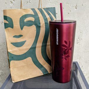 NWT Starbucks Plum Rose Tumbler 240z. Fall 2020